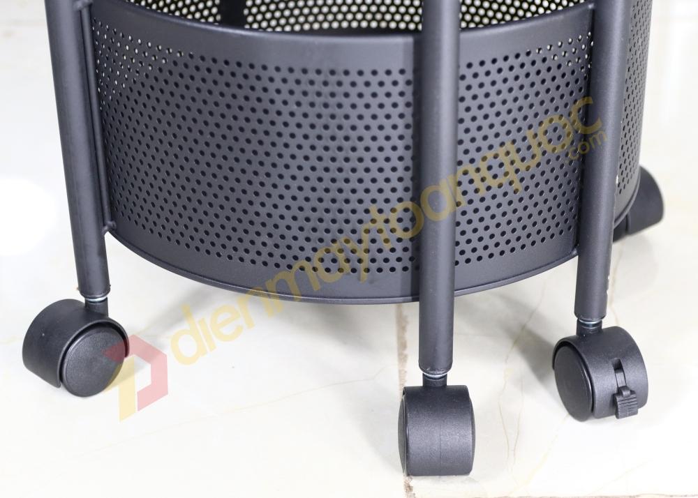 Kệ tròn xoay đa năng K360-A5 5 tầng - Hàng Nhập Khẩu - Chịu lực  150kg- Hoàn thiện cao cấp bền, khoẻ, chắc chắn.