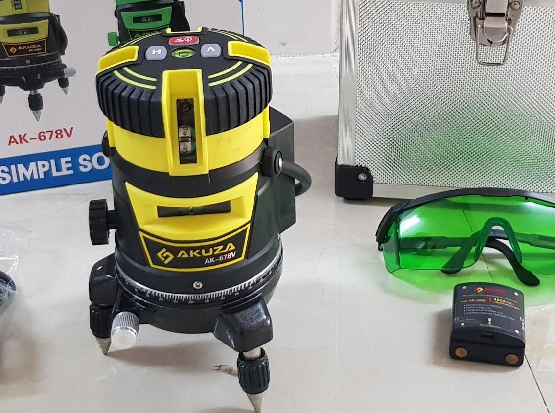 Máy cân bằng laser 5 tia xanh Akuza AK-678V