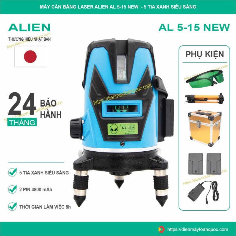 Máy cân bằng laser ALIEN AL5-15 NEW - Máy bắn cốt, cân mực, đánh thăng bằng 5 tia xanh