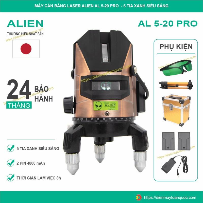 Máy cân bằng laser ALIEN AL5-20 Pro - Máy bắn cốt, cân mực, đánh thăng bằng 5 tia xanh