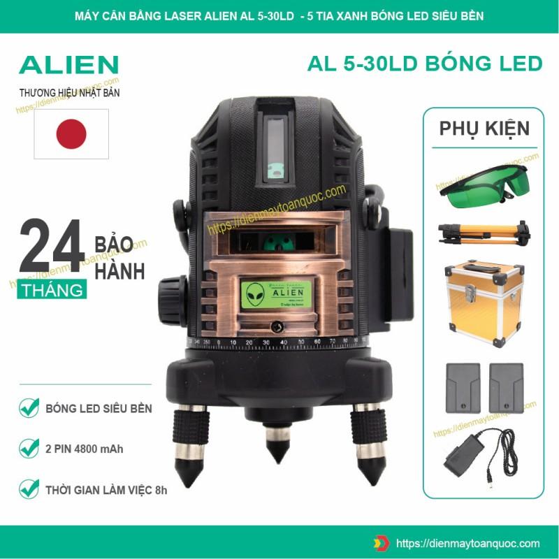Máy cân bằng laser ALIEN AL5-30LD - Máy bắn cốt, cân mực, đánh thăng bằng 5 tia xanh