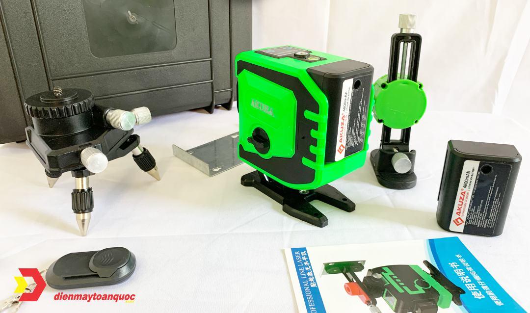 Toàn bộ phụ kiện máy cân bằng laser akuza AK-3Ds