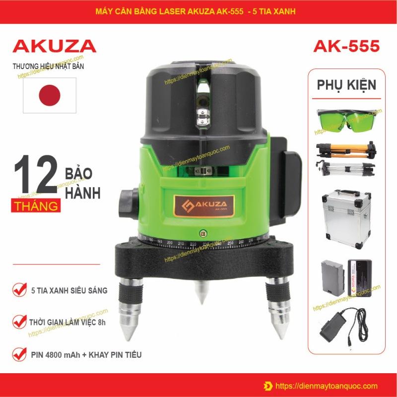 Máy cân bằng laser 5 tia xanh Akuza AK-555