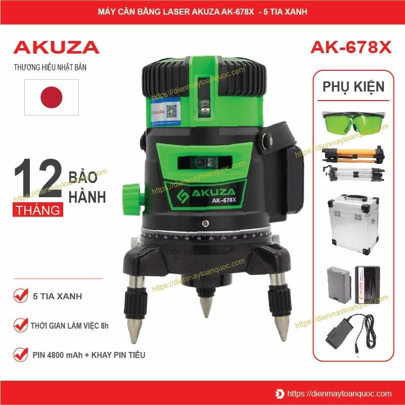 Máy cân bằng laser 5 tia xanh Akuza AK-678X
