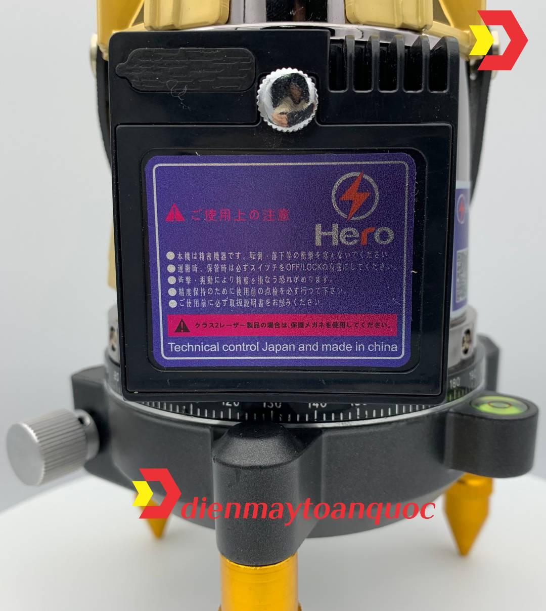 Máy cân bằng laser Hero LUX 2.0B 5 tia xanh bóng LED