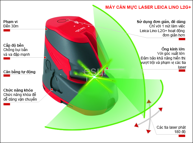 Máy Cân Bằng Laser Leica LINO L2G+