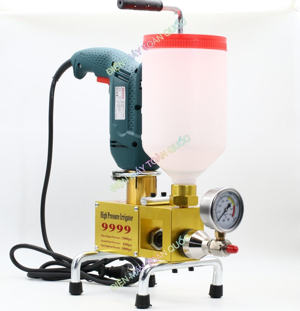 Máy bơm keo PU-9999 - bơm keo chống thấm, máy bơm keo áp lực cao, bơm keo xử lý vết nứt