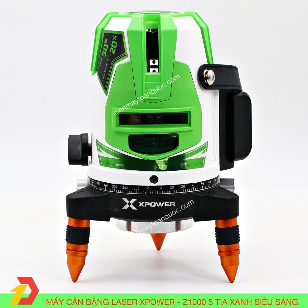 Máy cân bằng laser Xpower Z1000 - 5 tia xanh siêu sáng -  Máy Cân mực, bắn cốt, đánh thăng bằng