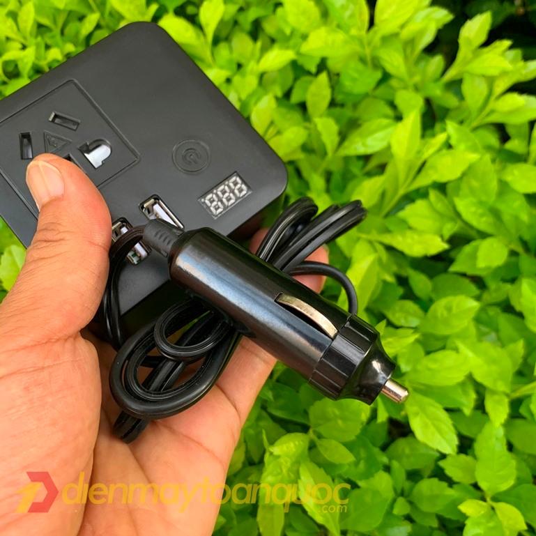 Tẩu chuyển đổi dòng điện trên ô tô TS68 - Chuyển đổi lên điện 220V, Sạc điện thoại và các thiết bị khác trên Ô tô