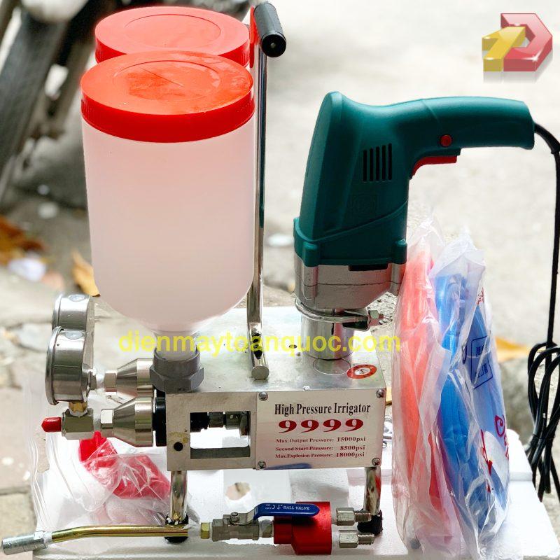 Máy bơm keo PU 9999 - Máy bơm keo 2 thành phần - bơm keo PU chống thấm